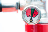 Close up of gauge on fire extinguisher — Stock Photo