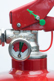 Close up of top of fire extinguisher — Stock Photo