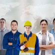 Five workers of different industries — Foto Stock #24059157