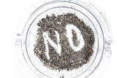 No spelled out in the ash in ashtray — 图库照片