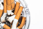 Close up overhead of ashtray — Stock Photo