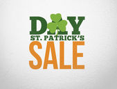 Advertisement for st patricks day sale — Stock Photo