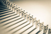 Line of dominoes — Stock Photo