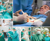 Montage of a sugery — Stock Photo