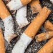 Stock Photo: Close up of cigarette butts