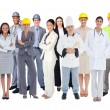 Stock Photo: Diverse group of workers