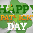 Artistic st patricks day message with large shamrock — Stock Photo