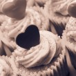 Stock Photo: Valentines cupcakes