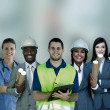 Smiling with different jobs — Stock Photo