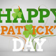 Artistic st patricks day message — Stock Photo