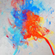 Artistic paint splashes - Stock Photo