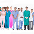 Smiling medical team of doctors nurses and surgeons — Stock Photo #24061561