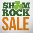 Advertisement for shamrock sale — Stock Photo