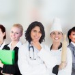 Smiling female workers — Stock Photo