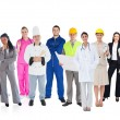Large diverse group of workers — Stock Photo