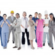 Large group of workers — Stock Photo
