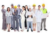 Diverse group of workers — Stock Photo