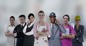 Different kinds of workers — Stock Photo