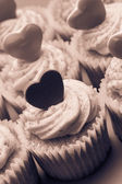 Valentines cupcakes — Stock Photo