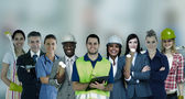 Smiling with different jobs — Foto Stock