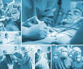 Chirurg tým působící — Stock fotografie