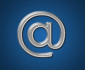 Email at symbol — Stock Photo