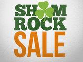 Advertisement for shamrock sale — Stock Photo