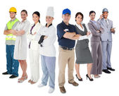 Different types of workers — Stock Photo