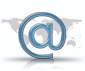 シンボルで青いメール — ストック写真