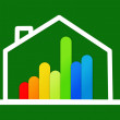 Stock Photo: Energy efficient house graphic against background
