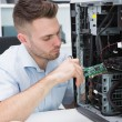It professional fixing computer problem — Foto Stock