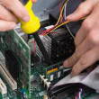 Close-up process of repairing computer — Stock Photo
