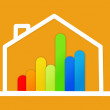 Stock Photo: Energy efficient house graphic