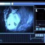 Blue vein interior interface — Stock Photo