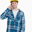 Royalty-Free Stock Photo: Portrait of young male architect using cellphone
