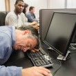 Mtaking nap at computer class — Stock Photo #24096959