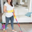 Womholding mop — Stock Photo #24097265