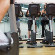 Taking a spinning class — Foto de Stock