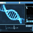 Blue DNA Helix technology — Stock Photo
