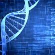 Blue DNA Helix with texture - Stock Photo