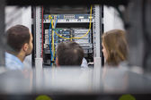 Technicians viewing a server — Stock Photo