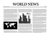 World news newspaper — Stock Photo