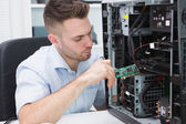 It professional fixing computer problem — Stock Photo