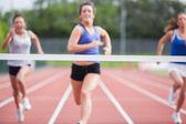 Athletes close to finish line — Stock Photo