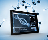 DNA on a digital tablet — Stock Photo