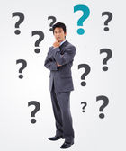 Questioning businessman — Stock Photo