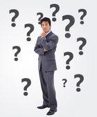 Undecided businessman — Stock Photo