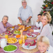 Royalty-Free Stock Photo: Happy family at christmas dinner