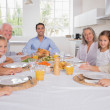 Family celebrating thanksgiving — Stock Photo #24102779