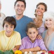 Happy family in the kitchen — Stock Photo #24109093